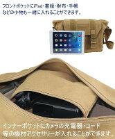 【送料無料】BESTEKキャンバス素材一眼レフ用レンズ2本カメラバッグインナーバッグ付きおしゃれショルダーバッグ防水仕様iPad入り可BTDB01