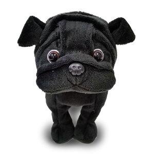 かわいい犬のぬいぐるみ ベストエバー プレミアムパピー 黒パグ ぬいぐるみ