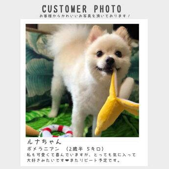 犬のおもちゃバナナのぬいぐるみ