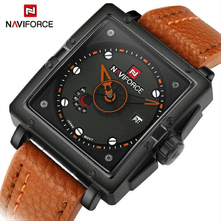 腕時計, メンズ腕時計 NAVIFORCE TB-370113 Quartz watches