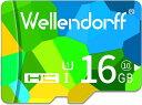 【送料無料・税込み】Micro SD カード 16 G GB Wellendorff SUPER DUODUO マイクロ SD card class 10 クラス UHS 1 激安 爆速 3年保証
