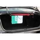 傘・洗車タオルなどをすっきり収納!トランクに簡単取り付けの収納用つり棒【セダン専用】