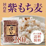 【メール便・送料無料】紫もち麦280g