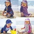 【メール便可】JoJo Maman Bebe ◆ 1ピースラッシュガード 水着 フラワー クジラ 魚 6-12ヶ月 1-2歳 2-3歳 ジョジョママンベベ 水着 (1Piece Sun Protection Suit) 子供 キッズ ベビー 花柄 ハイネック ◆ 男の子 女の子