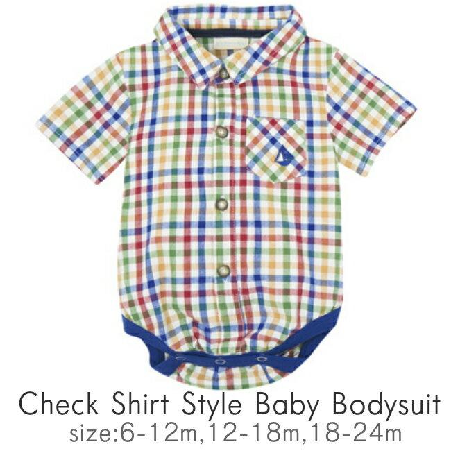 ベビー服・ファッション, カバーオール・ロンパース JoJo Maman Bebe 90 80 12 18 24 1 2 80cm 90cm Check Shirt Body