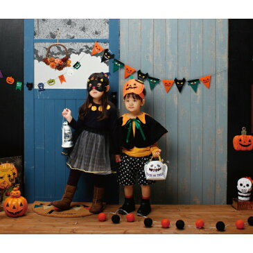 ハロウィン ヘッドマスク かぼちゃ クロネコ 仮面 コスプレ 衣装 仮装 子供用 フェルト ハロウィンパーティ お誕生日会 パーティ おしゃれ かわいい 女の子 男の子 キッズ ベビー 簡単 ハロウイン 1歳 2歳 3歳 80cm 90cm 100cm フェルト 赤ちゃん