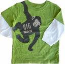 【メール便可】 カーターズ Carter's レイヤード 重ね着風 長袖グラフィックTシャツ緑 ロンT グリーン おさるさん モンキー 男の子 海外 ブランド おしゃれ キッズ ベビー 赤ちゃん 子供 1才 1歳 プレゼント ギフト トップス ボトムス 下着