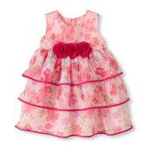 チルドレンズプレイス(THECHILDREN'SPLACE)ピンクフローラルティアードドレス