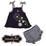 MudPieデイジーサンスーツブルマ—セットセットアップドレスサマードレス夏サマー女の子紺花かわいいコットンベビー赤ちゃんギフトプレゼント出産祝いDAISYSUNSUITBLOOMERSET1112349