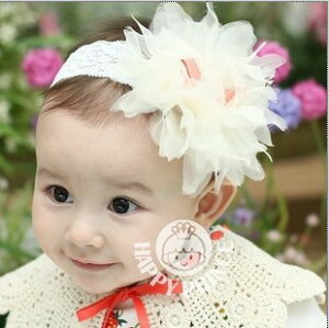 オーガンジー アクセサリー カチューシャ 赤ちゃん ホワイト オレンジ ハロウィン クリスマス