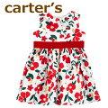 【送料無料】【2020新作】Carter'sカーターズ正規品ブルマ付き,ワンピースドレス☆フラワー☆裏地付き,結婚式・パーティードレス女の子707580