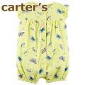 【送料無料】【2019新作】カーターズCarter's正規品,前開きロンパース☆黄色バタフライ☆女の子