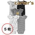 【2019新作】カーターズcarter's正規品ノースリーブボディスーツロンパース5枚セット☆モノトーン☆女の子