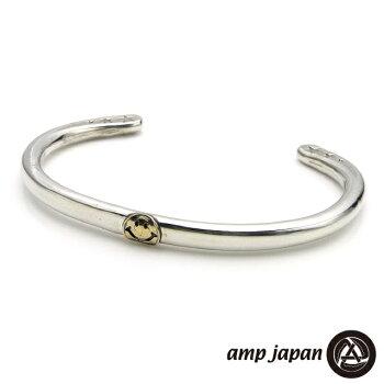 ampjapan【アンプジャパン】サークルシルバーバングル/K10スマイル