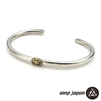 ampjapan【アンプジャパン】ナローサークルシルバーバングル/K10スマイル