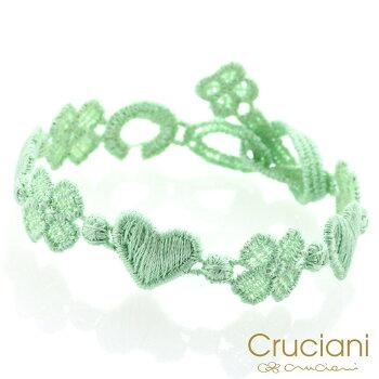Cruciani【クルチアーニ】クルチアーニCアンクレット/ブレスレットハート&クローバーアクアグリーン