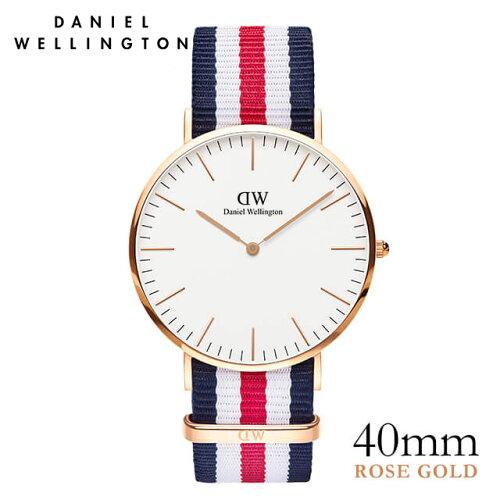 ダニエルウェリントン Daniel Wellington 40mm カンタベリー ローズ メンズ 腕時計 ★ポイント10倍