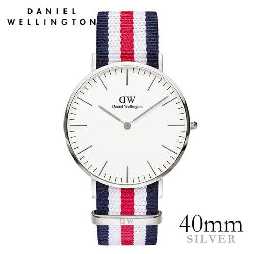ダニエルウェリントン Daniel Wellington 40mm カンタベリー シルバー メンズ 腕時計 ★ポイント10...