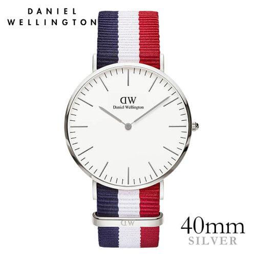 ダニエルウェリントン 40mm Daniel Wellington ケンブリッジ シルバー メンズ 腕時計 ★ポイント10...