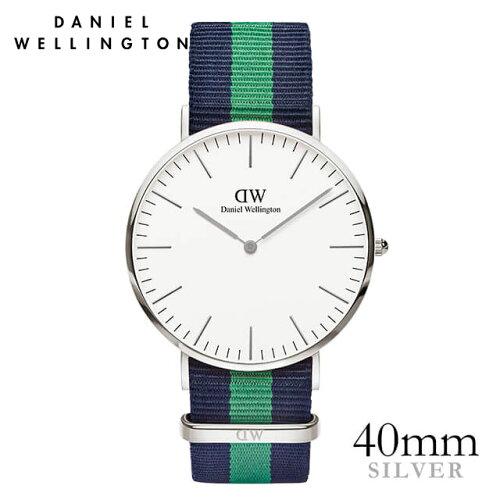 ダニエルウェリントン Daniel Wellington 40mm ウォリック シルバー メンズ 腕時計 ★ポイント10倍