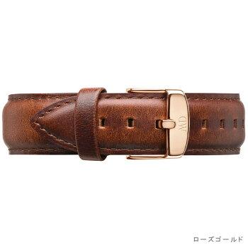 DanielWellington【ダニエルウェリントン】(クラシック40mm用付替バンド幅20mm)レザーストラップリストバンドセイント・モーズローズシルバー腕時計ClassicStMawes