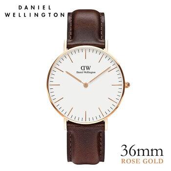 DanielWellington【ダニエルウェリントン】ブリストル/ローズ36mm腕時計ClassicBristol