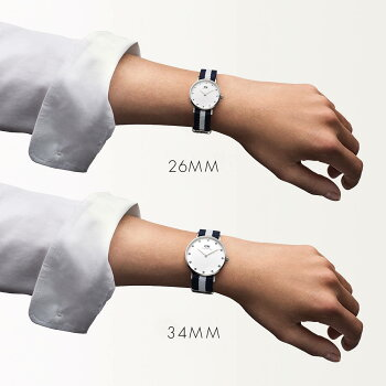DanielWellington【ダニエルウェリントン】グラスゴー/シルバー26mmクラッシー腕時計ClassicGlasgow