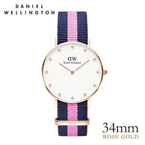 ダニエルウェリントン Daniel Wellington 34mm ウィンチェスター ローズ メンズ レディース 腕時計...