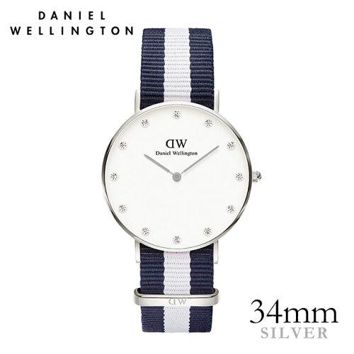 ダニエルウェリントン Daniel Wellington 34mm グラスゴー シルバー メンズ レディース 腕時計 ★...