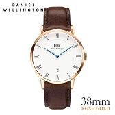 [ポイント5倍]ダニエルウェリントン【Daniel Wellington】ダッパー ブリストル/ローズ 38mm 腕時計 Dapper Bristol