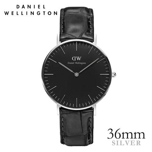 ダニエルウェリントン Daniel Wellington 36mm クラシックブラック レディン シルバー 腕時計 ★ポ...