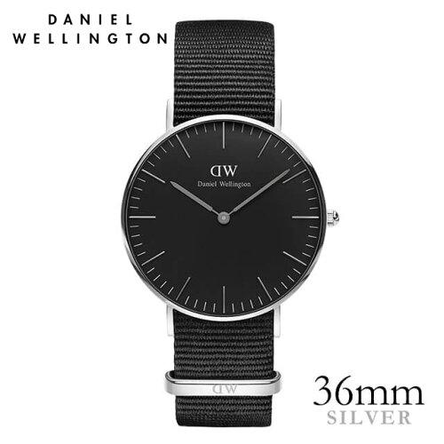 ダニエルウェリントン Daniel Wellington 36mm クラシックブラック コーンウォール シルバー 腕時...