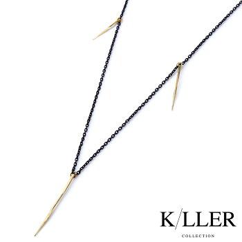 K/LLERCOLLECTION【キラーコレクション】ツイストスパイクチャームネックレス