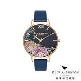 オリビアバートン 腕時計 レディース Olivia Burton エンチャント ガーデン フローラル ミッドナイト & ローズゴールド 日本正規総代理店 記念日 ギフト プレゼント 新生活 贈り物 時計