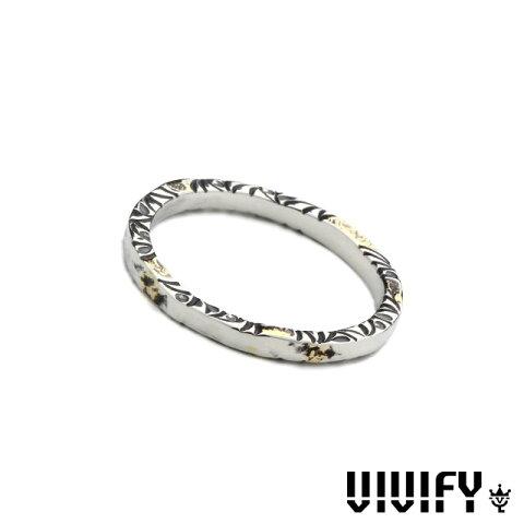 ビビファイ【VIVIFY】サイドアラベスク リング w/ イエローゴールド