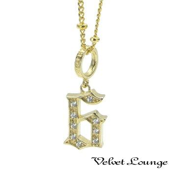 VelvetLounge【ヴェルヴェットラウンジ】グッドラックナンバーペンダント「6」K18/ダイヤモンド