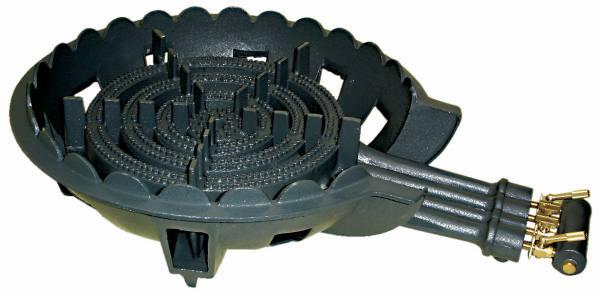 鋳物コンロ 四重 種火無し ガスバーナー(普及タイプ) 底枠付 SB401 (旧品番 C-36-0)(タチバナ TS-440 類似品)