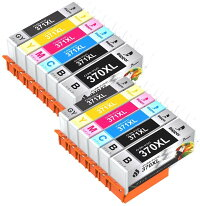 CANON(キャノン)371XL370XL大容量【BCI-370XLPGBK】+【BCI-371XLBK/C/M/Y】5色10本マルチパックICチップ残量表示検知機能付きBIGGER製互換インクカートリッジBCI371XL+370XL/10MP