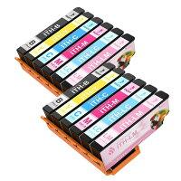 EPSON(エプソン)ITH-6CL大容量【2BK/2CY/2MG/2YL/2LC/2LM】6色12本マルチパックICチップ残量表示検知機能付きBIGGER製互換インクカートリッジ[対応機種EPSONEP-709A、EP-710A、EP-810AW、EP-810AB]【365日保証】