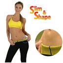 即納!【Slim&Shape スリム&シェイプ】 10月21日号の週刊女性で紹介されました♪ 発汗 シェイプアップ パンツ サウナ スパッツ Neotex 履くだけ。下腹部から膝上まで集中シェイプ! エクササイズ ハーフパンツ ダイエット サウナパンツ (送料無料)