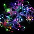 【即納】ライト・イルミネーション イルミネーション led パーティ用電飾 送料無料 乾電池式/LEDイルミネーション/装飾品/80球10M電飾/カラー/結婚式、誕生日、応援ボード、ナイトクラブ、新年会などの装飾品【あす楽】