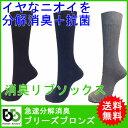 【メール便/送料無料】 ブリーズブロンズ カラーリブソックス 消臭靴下...