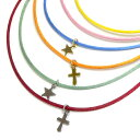 今なら3本選べる!チャーム付き サテンコード シンプル ブレスレット アンクレット 星 十字架 馬蹄 王冠...