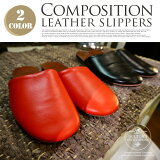 Compositionleatherslippers(����ݥ������쥶������å�)S295-75DULTON(����ȥ�)������(25-29cm)���顼(�֥�å�����å�)