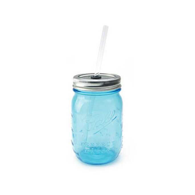 【Ball メイソンジャー】rednek sippers(レッドネック シッパー)2775CL・2775BL 全2色(clear・blue) /ボール Mason jar アメリカ Ball社 正規品 ガラス 保存ビン ドリンクボトル