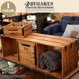 深みのある古木を使用しIRONのアクセントが魅力! OLD TEAK BOX SHELF (L)(オールドチークボックスシェルフ L ) BIMAKES(ビメイクス) 送料無料