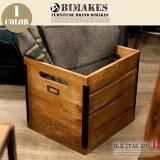 深みのある古木を使用し安定感のあるWOODBOX!OLDTEAKBOX(L)(オールドチークボックスL)BIMAKES(ビメイクス)