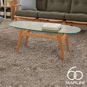 オークフレームコーヒーテーブル ガラストップ(Oak Frame Coffee Table Glass top) ナチュラル(...