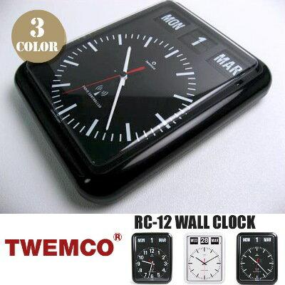 RC-12 WALL CLOCK(電波ウォールクロック) パタパタクロック TWEMCO(トゥエンコ) カラー(ホワイト・...