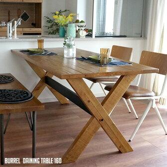 熟練した匠ならではの製法と無垢ならではのヌクモリ!BurrelDainingTable160(バレルダイニングテーブル160)BIMAKES(ビメイクス)全2色(ナチュラル、ブラウン)送料無料